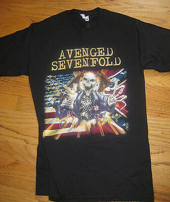 Brand new avenged sevenfold skeleton bursting through flags Tshirt Small 34-36
