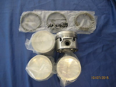 Mg Mgb 1800 18V Engine Set Of Four Pistons And Rings Plus 60 Oversize Press Fit
