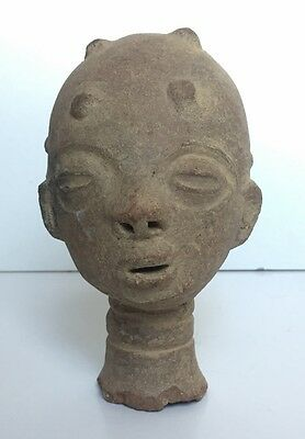 Head Terracotta African Art-NOK-Nigeria Sculpture c.1900 Original 6.5""
