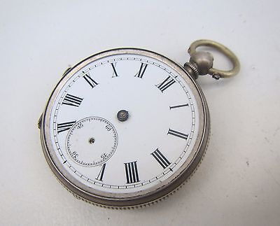 Old Fine Solid Silver Pocket Watch - for spares