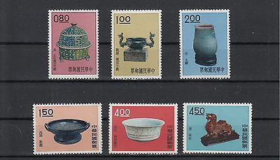 CHINA: TAIWAN 1961 Art Treasurers set of 5 perfect stamps. SG408/413. MUH/MNH