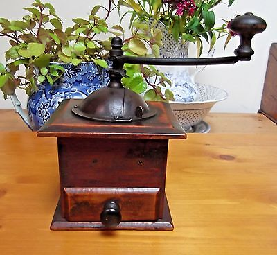 Vintage French Coffee Grinder With Drawer And Handle