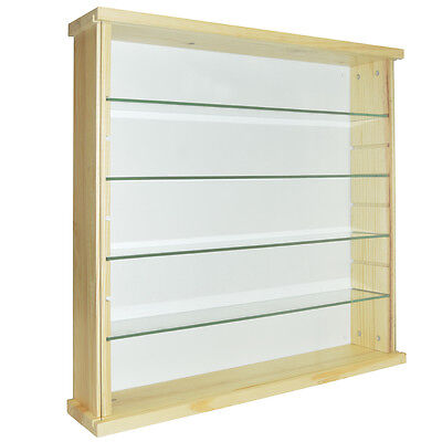 EXHIBIT - 4 Shelf Solid Wood Wall Display Unit - Natural Pine 3316oc