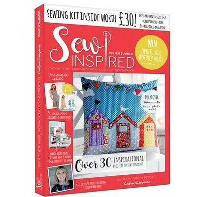 Sew Inspired Magazine Issue 8 With Free Sewing Kit Worth £30 Debbie Shore Summer