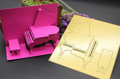 Metal 3D Piano Cutting Dies Embossing Stencil Scrapbooking Cards Making Decor