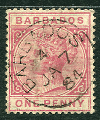 "BARBADOS: (12479) coded ""4"" postmark/cancel"