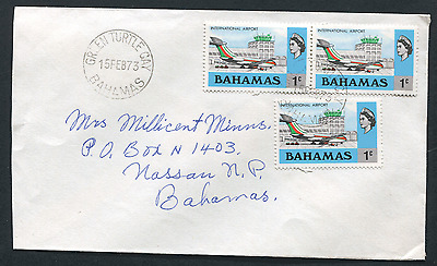 BAHAMAS: (15201) aviation/GREEN TURTLE CAY cancel/cover