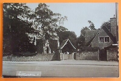 G.DEWE RP Postcard POSTED 1933 THE CHURCH LITTLEMORE COWLEY OXFORD OXFORDSHIRE