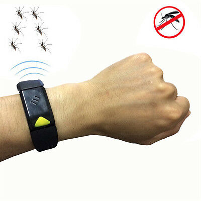 Ultrasonic Anti Mosquito Insect Repellent Bracelet Wrist Electronic Wristband
