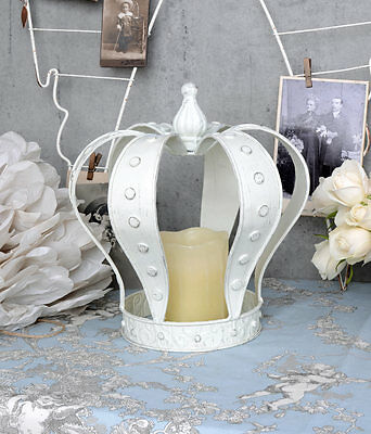 Vintage Crown White Metal Crown Madonna Crown Shabby Chic Decorative Crown