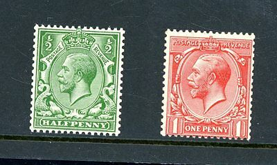 Great Britain  1913 Royal Cypher (Multiple)  Set of 2  unmounted MINT   (J1340)