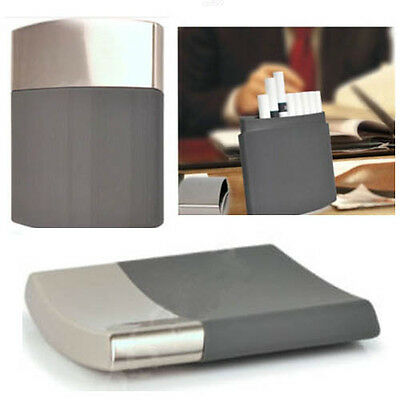 Slim Pocket Cigarette Box Case Portable Stainless Steel Hold 10 Cigarettes Gifts