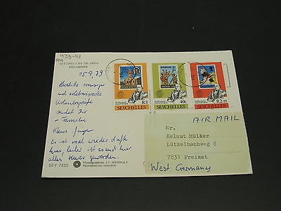 Seychelles 1979 airmail postcard to Germany *5212