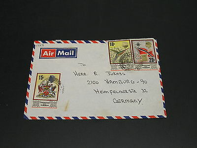 Trinidad Tobago 1974? Airmail cover to Germany faults *5355