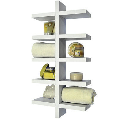 ESSA - Wall Mounted 5 Tier Storage / Display Shelf - White STWSV231300