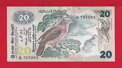 Central Bank Of Ceylon - Billet De 20 Rupees Du 1979-03-26 Spl