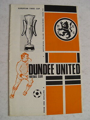 Dundee United v Newcastle United 1969/70 Fairs Cup