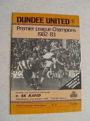 Dundee United v SK Rapid 1983/84 European Cup