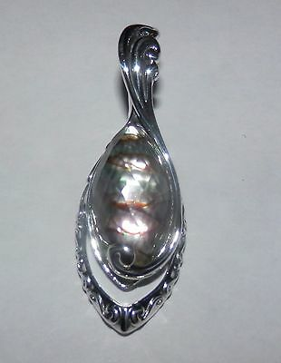 Carolyn Pollack Abalone Faceted Quartz Sterling Silver Enhancer
