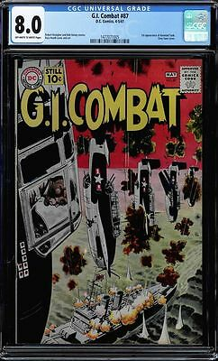 G.i. Combat #87 Cgc 8.0 Oww 1St App Of The Haunted Tank Cgc #1477071005