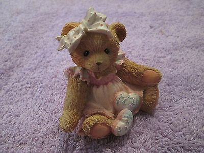 Enesco Cherished Teddies Amy Hearts Quilted Love Bear Figurine 1992 910732