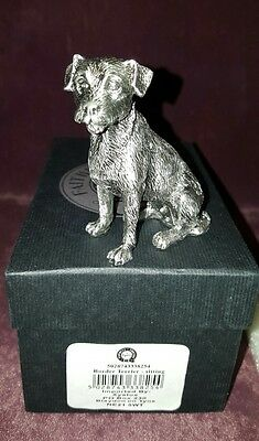 Faithful Friends Pewter Boarder Terrier Puppy Dog Figure - Sitting