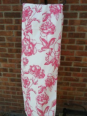 New,asda,pair Of Curtains White/pink Floral