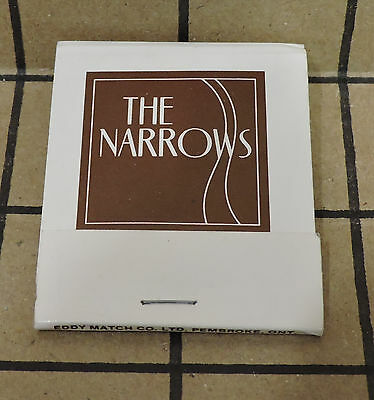 The Narrows Hotel Newfoundland St John's Newfoundland Matchbook