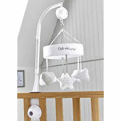 New Clair De Lune Grey Little Dreams Unisex Baby Wind Up Musical Mobile