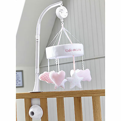New Clair De Lune Pink Little Dreams Baby Girls Wind Up Musical Mobile