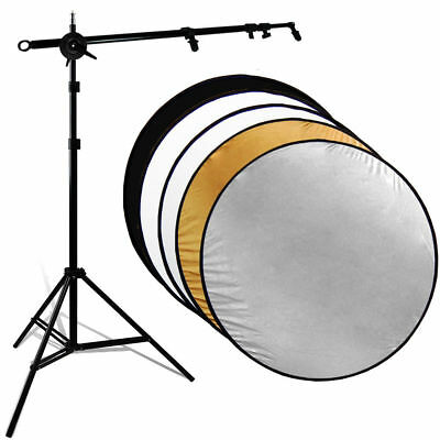 32in 5-in-1 Photo Studio Reflector Stand Disc Holder kit & Collapsable Reflector