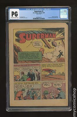 Superman (1939 1st Series) 1 CGC PG Page 18 Only 0962660015
