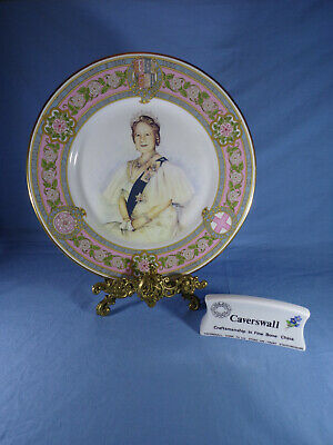 Caverswall The Queen Mother Plate 80th Birthday Designed By Stephen Barnsley COA