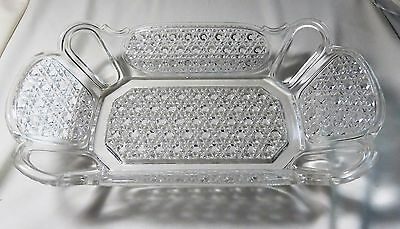 EAPG Finecut and Panel Relish Pickle Dish Clear Glass