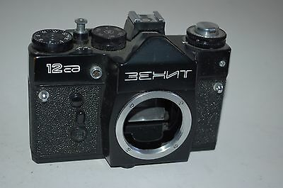 Zenit 12sd Vintage Soviet SLR Body Only Tested with batteries Serviced. 91004382