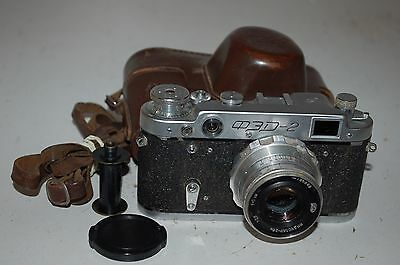 FED 2 (type D2) Vintage Soviet Rangefinder Camera. With Case. 1961. (1154480)