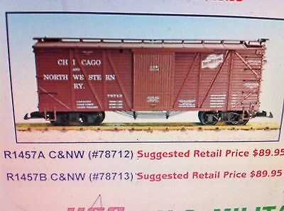 USA Trains G Scale 1457A OUTSIDE BRACED BOX CAR Chicago Northwestern #78712