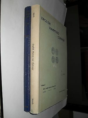 Full 2 vol. set of English Hammered Coinage,   by J.J. North - illustrated - h/b