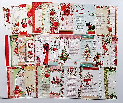 Hunkydory Second Little Book of Festive Poetry Verse Christmas Toppers 24 Sheets
