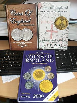 3 x Spink's Coins of England & The United Kingdom - 2000/2/4- illust'd. h/b's