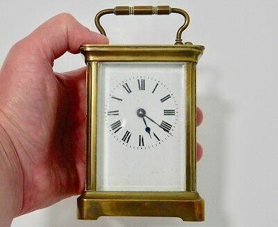 Antique 8 Day Brass Carriage Clock Circa 1900