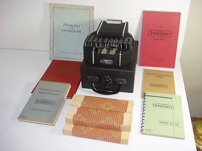Vintage Hedman Stenograph W/ Case Reporter Shorthand Machine + Loads More