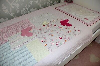 MOTHERCARE baby girl's pink cot/cotbed quilt/ tog 4.0 +pillow cover.