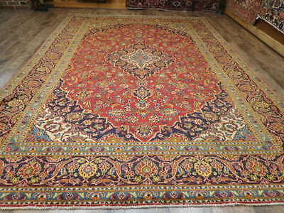 C1930s VG DY ANTIQUE PERSIAN CLASSIC SHADSAR KASHAN 8x11 ESTATE SALE RUG