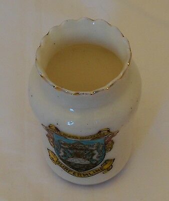 Arcadian Crested China Vase Dunfermline - 6.5cm tall