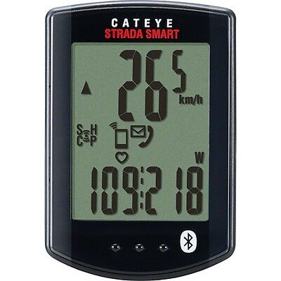 New Cat Eye Strada Smart Bike Computer No Sensors Use with Bluetooth GPS Phone