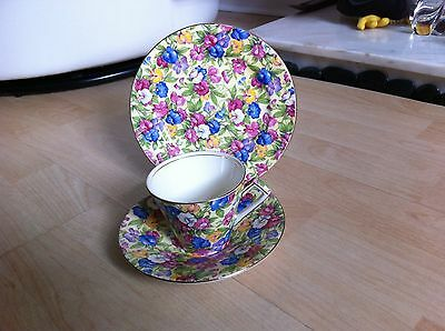 ROYAL WINTON GRIMWADES - SWEET PEA PATTERN CHINTZ - cup saucer plate TRIO