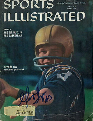 George Izo Autographed Notre Dame Fighting Irish Sports Illustrated Oct 26, 1959