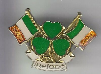 Rare Pins Pin's .. Tourisme Pays Country Drapeau Flag Ireland Irlande Trefle ~Dh