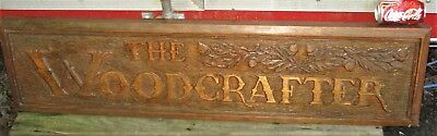 Antique Usa Country Fireplace Hearth Carved Wood Board Plaque Art Sign Sculpture